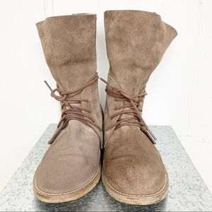 Steve Madden Brown Suede Slouch Bootie